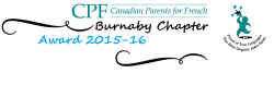 CPF Burnaby Chapter Award 2015-16